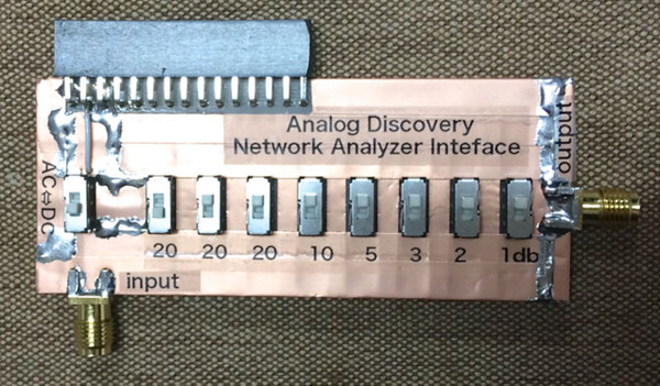 Analog Discovery Network Analyzer Interface: アナログ回路の